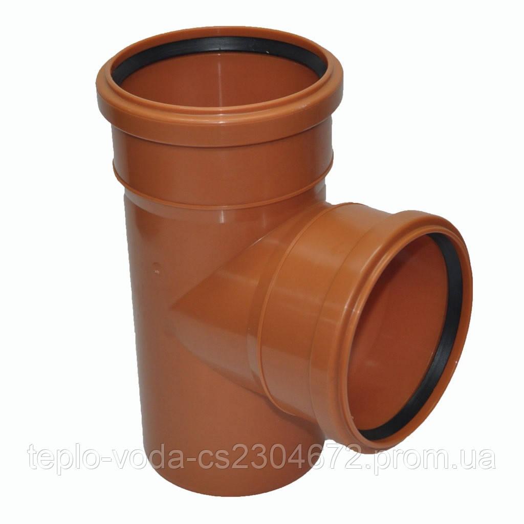 Тройник ПВХ 200х90 для канализации