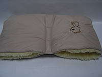 Меховая муфта для рук бежевая, фото 1