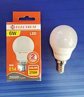Светодиодная лампа Шар 6W Е14 LB-9, фото 1