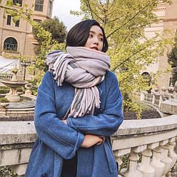 Объемный стильний теплий шарф, накидка, палантин, платок