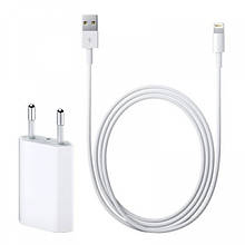 Сетевое зарядное устройство Foxconn iPhone 5W 1А USB Power Adapter + Кабель Lightining 1 м Белый