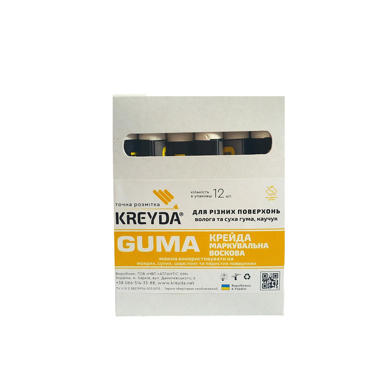 Восковой мел для шиномонтажа (белый) GUMA