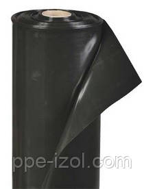 Пленка строительная черная 80мкн (3м х 100м) 1,5м/рукав, вторичная