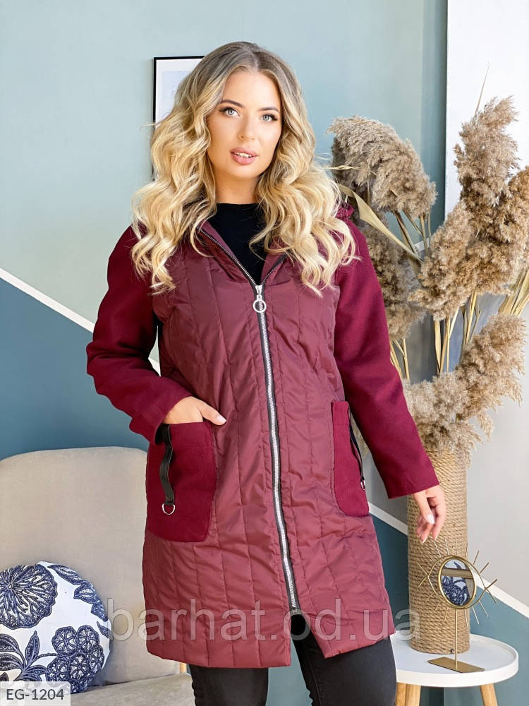 Пальто жіноче на осінь 42-44, 46-48 розмір