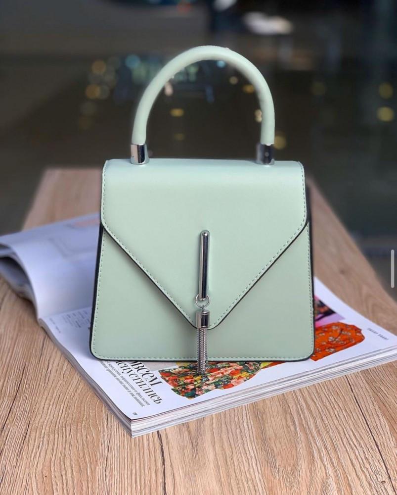 Женская сумка конверт бирюза