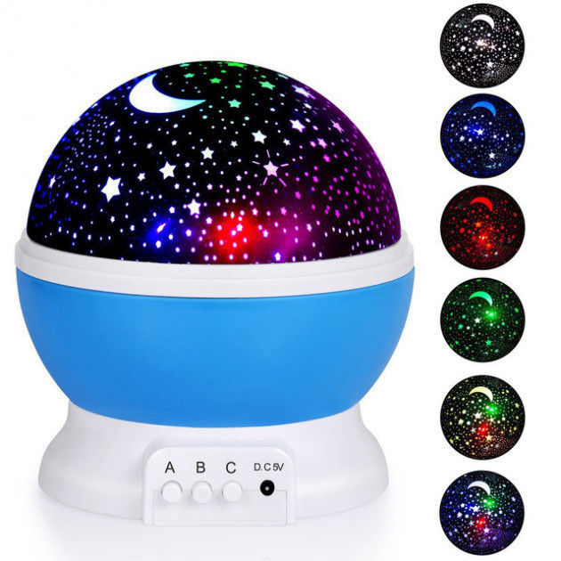 Ночник проектор звездное небо Star Master Dream вращающийся
