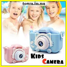 Детский фотоаппарат в чехле Smart Kids Camera.Фотокамера для детей,розовый