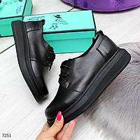 Мега удобные современные черные женские туфли из натуральной кожи, фото 1