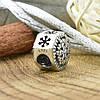 Серебряный шарм 10х10 мм вставка белые фианиты вес серебра 1.93 г, фото 2