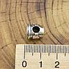 Серебряный шарм 10х8 мм белая эмаль вес серебра 2.5 г, фото 3
