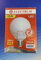 Светодиодная лампа ГЛОБ LG-24 15W E27, фото 1
