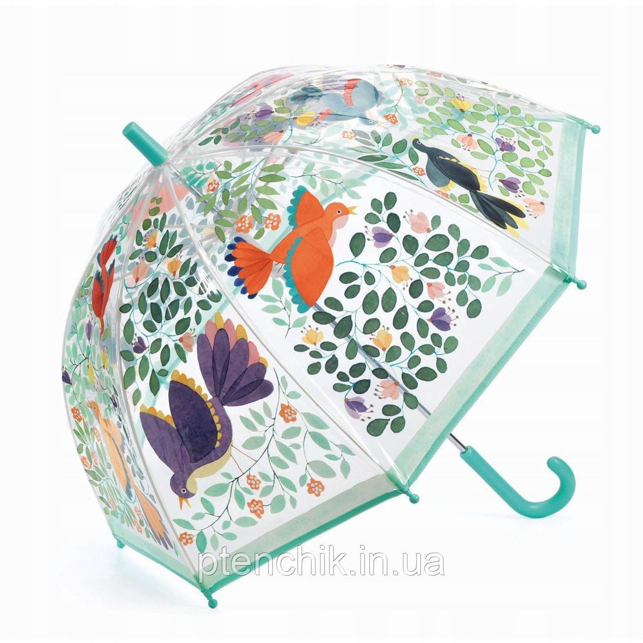 Зонт прозорий Квіти і птахи Djeco