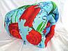 Одеяло полуторное Лери Макс наполнитель силикон - красные цветы