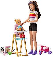 Игровой набор для кормления Барби Скиппер няня и малышка Barbie (GHV87) (887961803570), фото 1