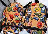 Молодежные спортивные рюкзаки (АССОРТИ)21x28см, фото 5