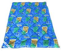 Одеяло полуторное Лери Макс наполнитель синтепон синий окрас