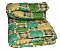 Одеяло полуторное Лери Макс наполнитель синтепон зелёного окраса