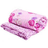 Одеяло полуторное Лери Макс розовое  наполнитель синтепон