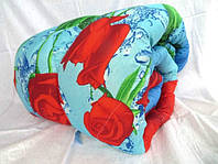 Двоспальну ковдру Лері Макс наповнювач синтепон червоні квіти