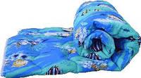 Синие двуспальное одеяло Лери Макс наполнитель синтепон