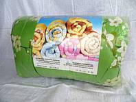 Двоспальну ковдру Лері Макс наповнювач синтепон квіти на зеленому