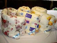 Синтепоновое теплое полуторное одеяло Лери Макс - окрас цветы