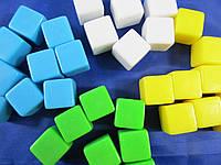 Кубик игральный 16 мм d6 с пустыми гранями, цвет в ассортименте