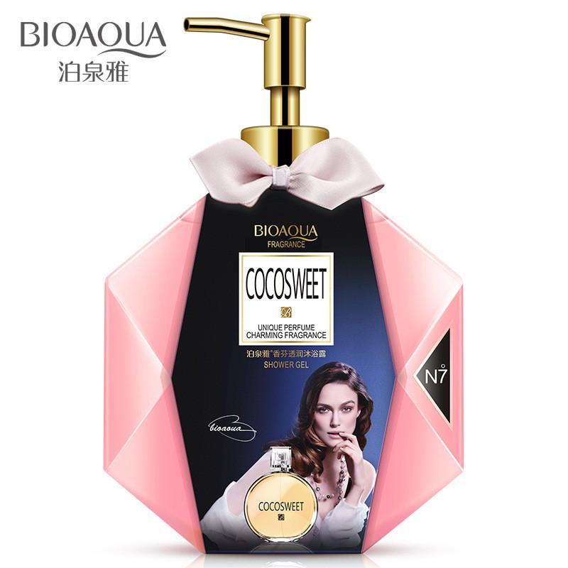 Парфумированный гель для душа Bioaqua Cocosweet №7 Unique Perfume Charming Fragrance Shower Gel, 600мл
