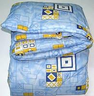 Двуспальное одеяло Лери Макс наполнитель синтепон синий цвет