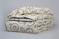 Одеяло с овечьей шерсти полуторное Лери Макс - вензеля