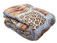 Одеяло с овечьей шерсти полуторное Лери Макс - тигровое