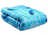 Одеяло из овечьей шерсти полуторное Лери Макс голубой окрас