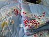 Одеяло двуспальное из овечьей шерсти Лери Макс - голубое