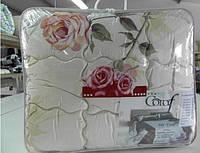 Одеяло двуспальное из овечьей шерсти Лери Макс - цветы