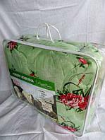 Одеяло двуспальное из овечьей шерсти Лери Макс - салатовое