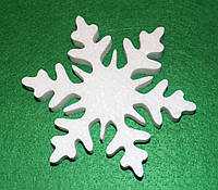 Снежинка -1 из пенопласта 13,5 см 1496-1