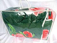 Одеяло двуспальное из овечьей шерсти Лери Макс - зелёное
