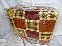 Одеяло двуспальное из овечьей шерсти Лери Макс - коричневая обстракция