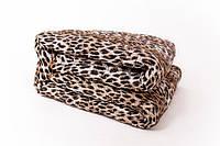 Одеяло двуспальное из овечьей шерсти Лери Макс - тигровое