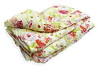 Одеяло двуспальное из овечьей шерсти Лери Макс цветы