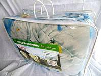 Одеяло двуспальное из овечьей шерсти Лери Макс белые цветы