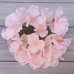Головка гортензии, 15 см  светло-розовый