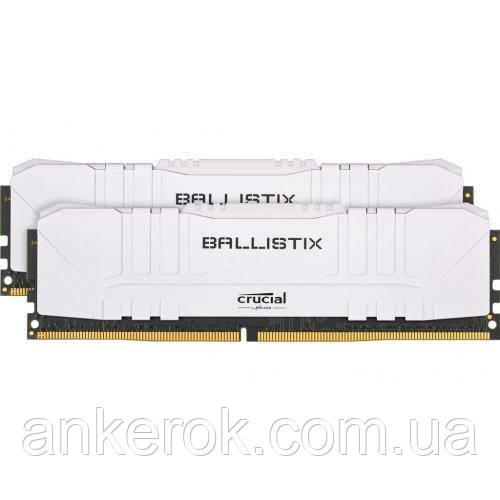 Оперативна пам'ять Crucial 16 GB (2x8GB) DDR4 3600 MHz Ballistix White (BL2K8G36C16U4W)