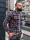 Мужской спортивный костюм шотландец весна-осень цвет серый с лампасом, фото 3