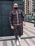 Мужской спортивный костюм шотландец весна-осень цвет серый с лампасом, фото 5