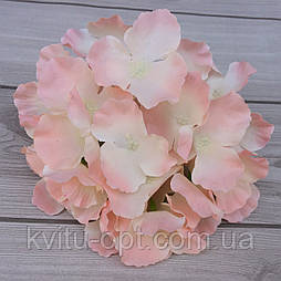 Головка гортензии, 15 см  розовый со светлой серединой