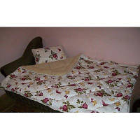 Одеяло полуторное из овечьей шерсти Лери Макс - цветы