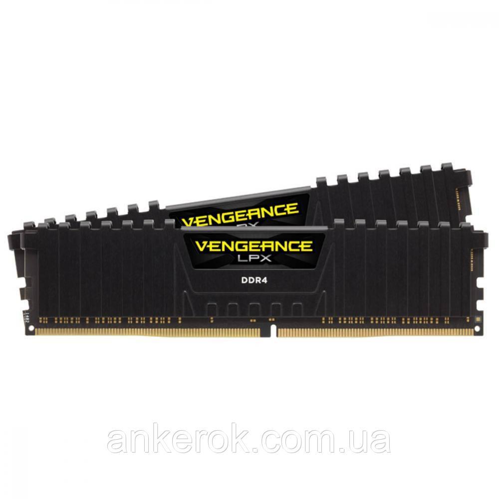 Оперативна пам'ять Corsair 16 GB (2x8GB) Black DDR4 3600 MHz Vengeance LPX (CMK16GX4M2D3600C18)