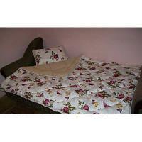 Двоспальну ковдру з овечої вовни Лері Макс квіти