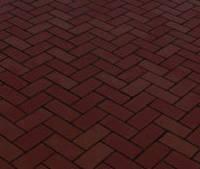 Тротуарная плитка Кирпичик 40, прессованный коричневая, Серая основа